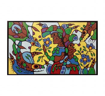 "Norval Morrisseau's ""Remembering the Place of Summer's Harvest"" Original"