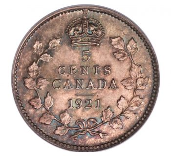 Canada 1921 5 Cent Coin