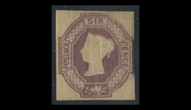 Great Britain 1854 #7 6p Red Violet F-VF MVLH